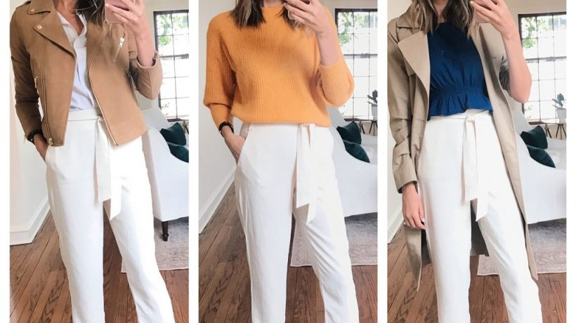 White pants for women: how to wear them